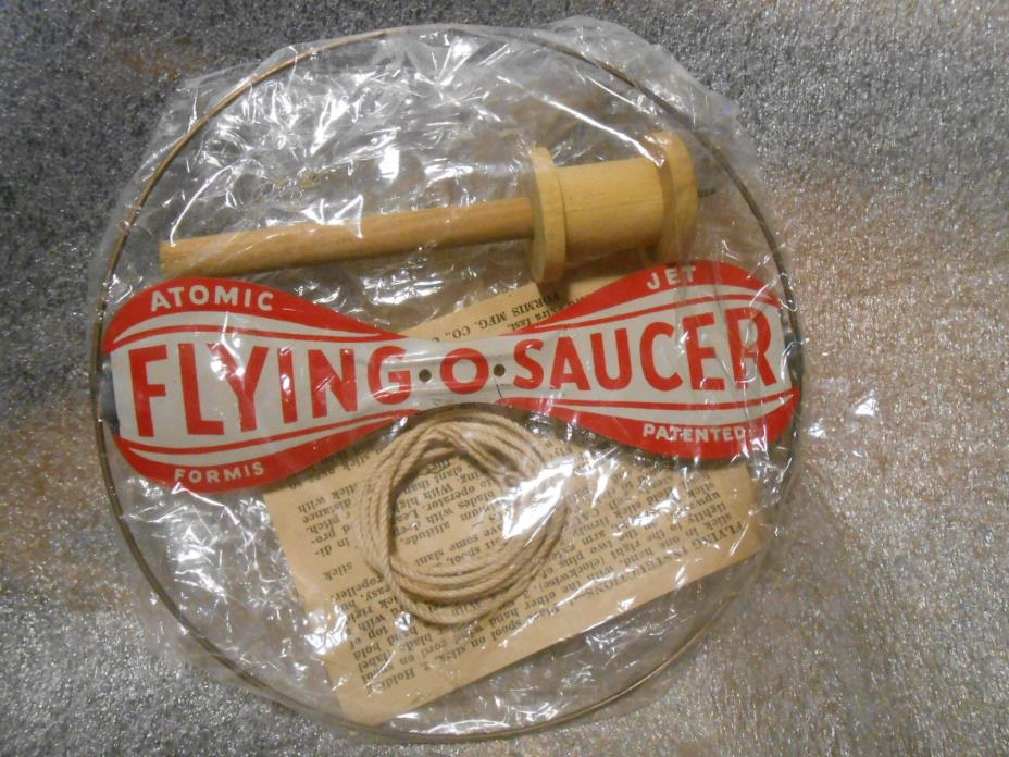 Vintage Atomic Flying Saucer Tin Toy New in Package