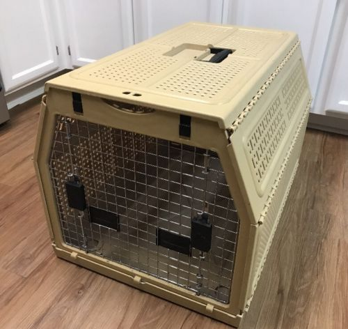 Nylabone Folding Collapsible Pet Dog Crate Cage Portable Carrier (27