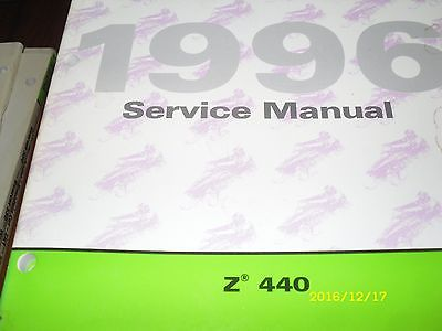 1996 ARCTIC CAT 440 Z440 Z 440 SNOWMOBILE SERVICE REPAIR MANUAL EXCELLENT