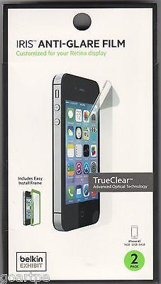 2-Pack Belkin Iris Anti-Glare Screen Protector Film for iPhone 4 / 4S