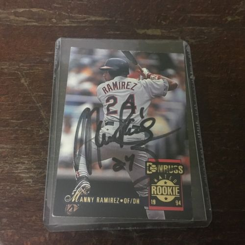 1993-94 Rookie Donruss Autographed By Manny Ramirez / Card #24 (Extremely Rare)