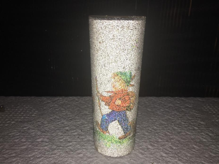 VINTAGE GLASS CANDLE HOLDER
