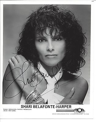 SHARI BELAFONTE-HARPER SIGNED  8 x 10 AUTOGRAPH PHOTO B/W