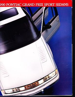 1990 Pontiac Grand Prix Sport Sedans Factory Original Sales Brochure   8 Panel