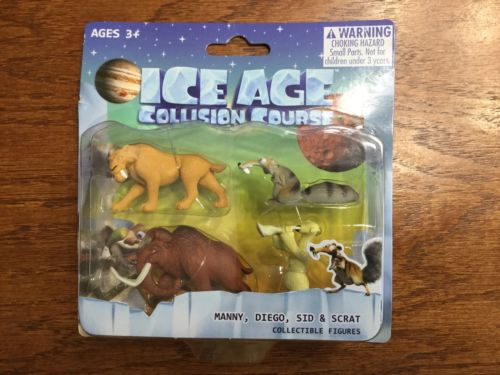NIB ICE AGE COLLISION COURSE COLLECTIBLE FIGURES MANNY,DIEGO,SID & SCRAT