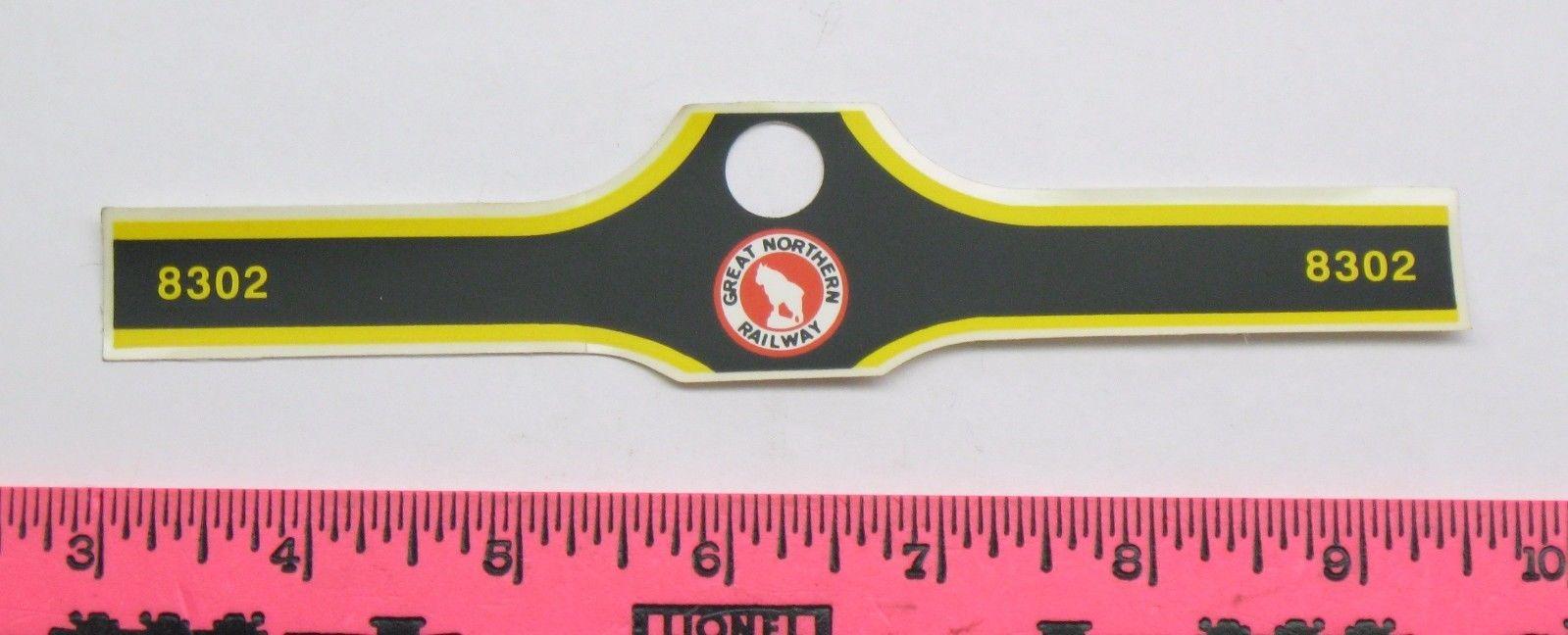 Lionel part ~8302 Great Northern Railway sticker decal