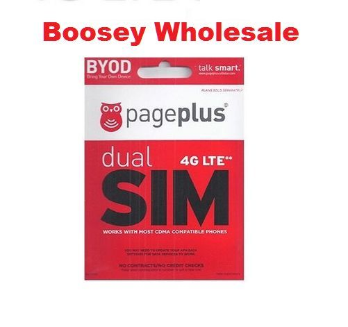 Page Plus Dual Sim Card ( Standard / Micro ) - Verizon 4G LTE phones PagePlus