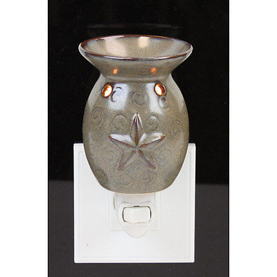 Electric Oil Warmer BARN STAR Tart Burner Night Light  4 SCENTSY & Yankee CANDLE