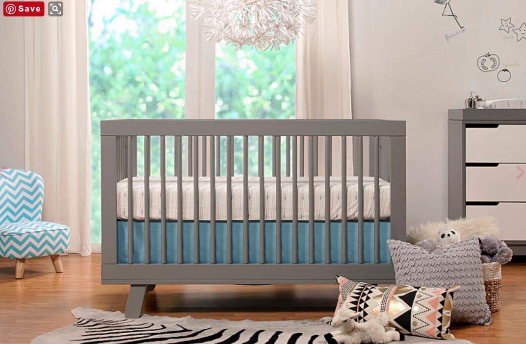 NEW Babyletto Hudson 3-in-1 Convertible Baby Crib Nursery Furniture Toddler Bed