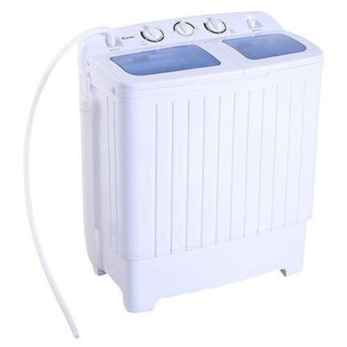 Portable Mini Twin Tub Washer-11lb Washing Machine for Dorm, RV, Apartment