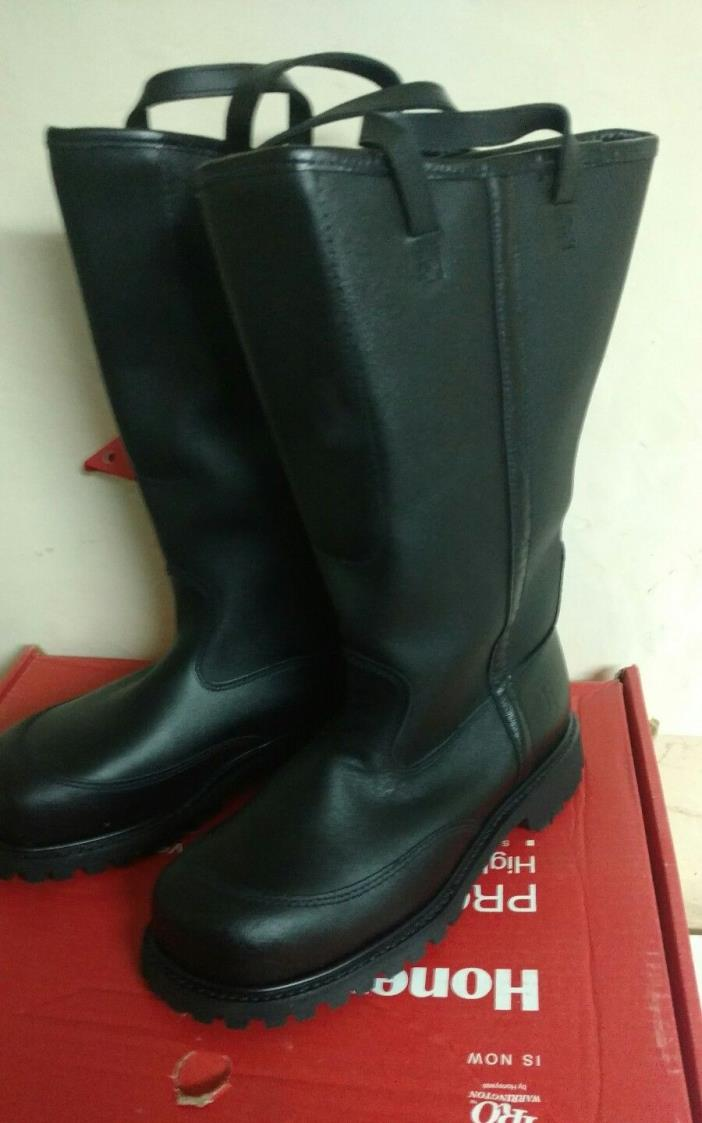 PRO WARRINGTON BOOTS 9020 BUNKER GEAR LEATHER SIZE 7 1/2 3E NEW TURNOUT GEAR NOS