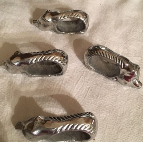 Pewter Pig Napkin Rings