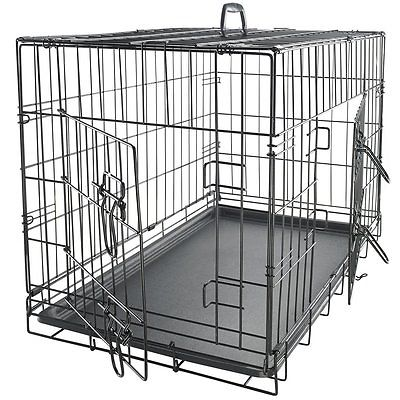 Dog Crate Door Double Folding Metal Inch Inches Pet Kennel Divider Cage W 30 48