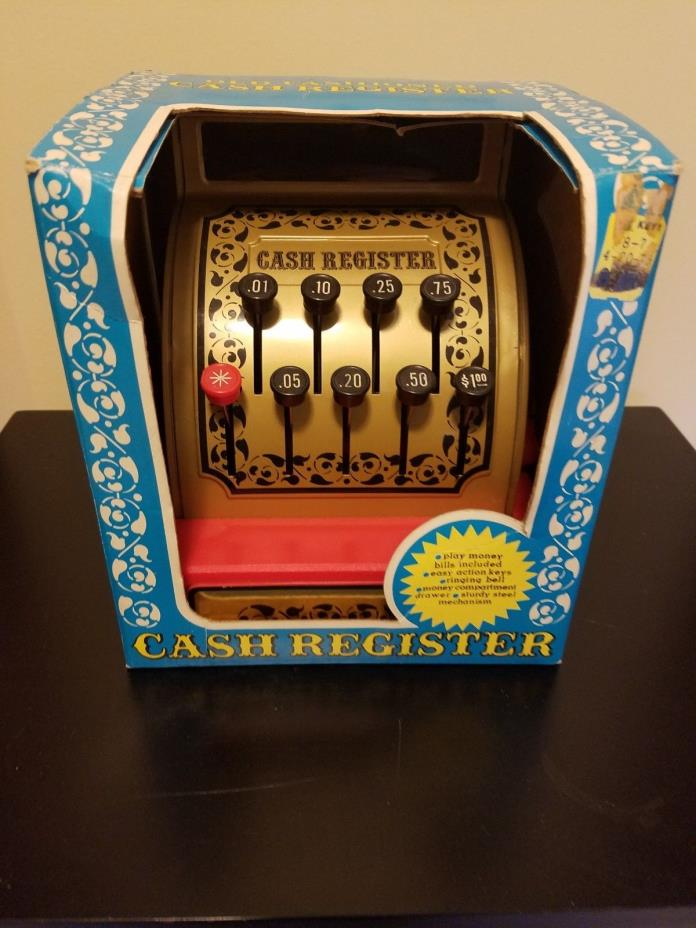 Vintage 1976 Buddy L Old Fashioned Cash Register - Slightly used with box