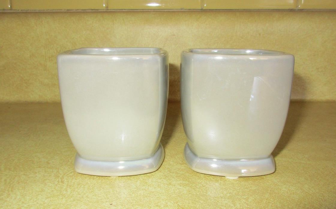 2 Yankee Candle Square Silver Votive Holders