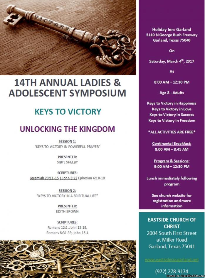 Invitation to Eastside COC Ladies Symposium