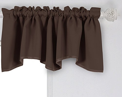 Deconovo Solid Color Rod Pocket Curtains Blackout Curtains Blackout Valance