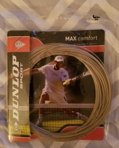 Dunlop Max Comfort 16g Tennis Strings In Ivory