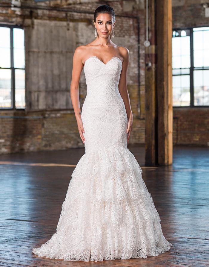 NEW! $3825 Justin Alexander Signature 9830 Sand Ivory Lace Wedding Dress Size 12