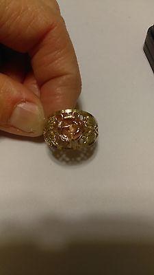 Coleman 10k Gold Black Hills Rose Leaf Ring Size 8