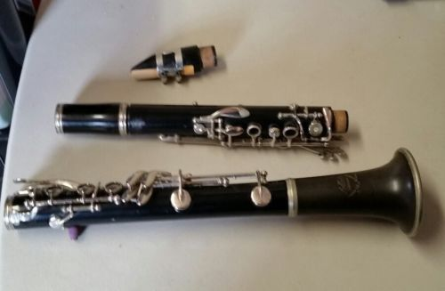 Old Vintage Abbott Clarinet made in France