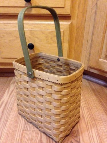 Longaberger 2003 Autumn Tote Basket & Protector - New Condition
