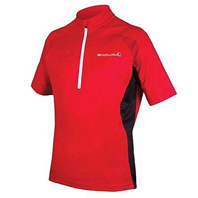 Endura  Men's Xtract II Short Sleeve Cycling JerseyE3104 (Red bike new)