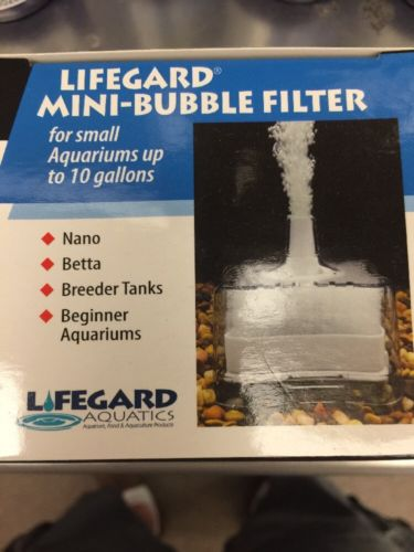 Mini bubble filter by Lifegard for aquariums up to 10 gallon