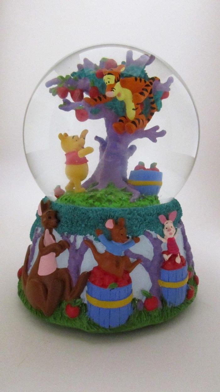 Disney Winnie The Pooh And Tigger In Apple Tree Mr. Sanders Snowglobe Music Box