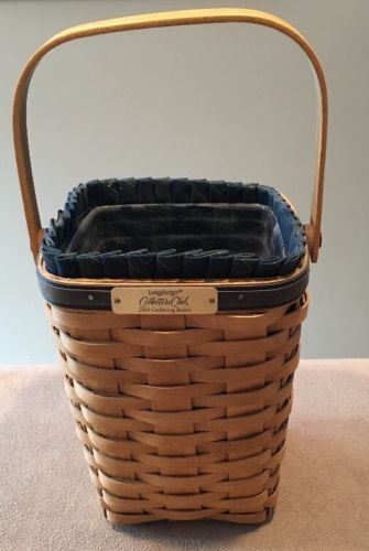 Longaberger 2003 Collectors Club Gathering Basket Combo Great!