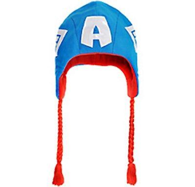 The Avengers Captain America Kids Winter Laplander Ski Hat Marvel Comics New