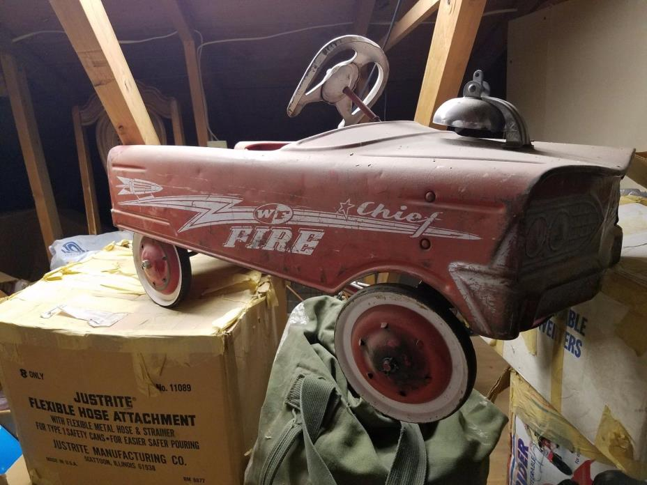 1950's antique pedal cars... Compact and Collectible... unrestored