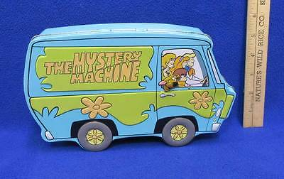 Scooby Doo Mystery Machine Tin Metal Box Lunch Storage Van Hanna Barbera