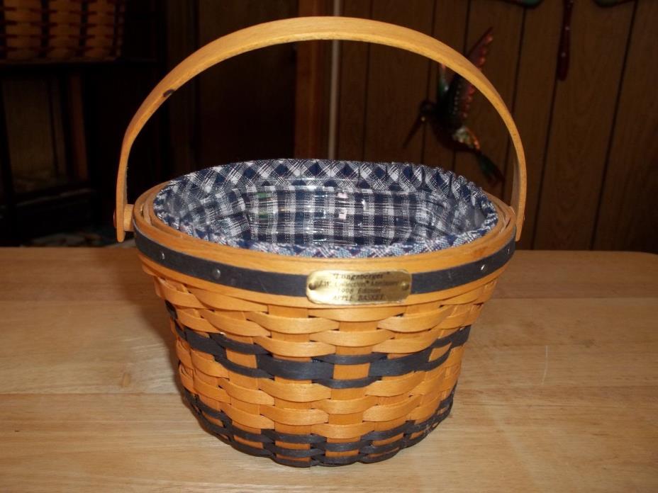 Longaberger JW Collection Miniature 1998 Apple Basket Combo