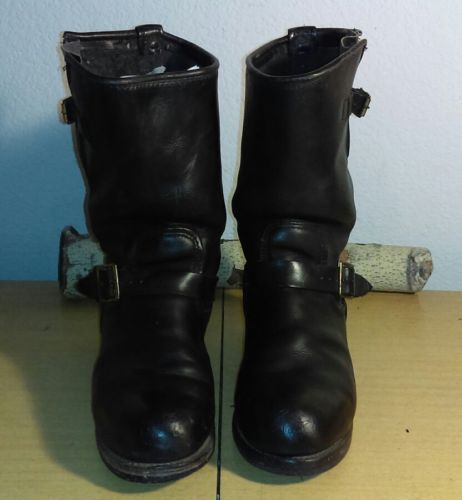 Rare Vtg Georgia boot Co. Men's 8E blk leather engineer motorcycle biker boots!