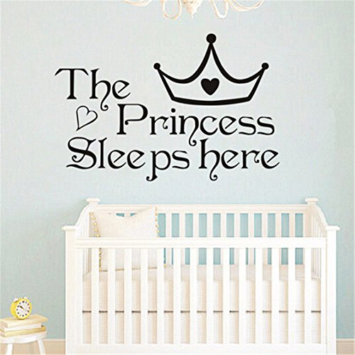 TraveT Princess Sleeps Here Wall Home Decor Bedroom Wall Stickers For Girls