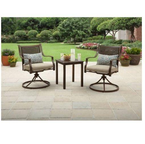 3-Piece Outdoor Chat Set Lynnhaven Park Outdoor Backyard Patio Garden Table Seat