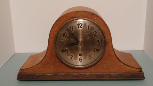 Antique British Anvil Perivale Westminster Chime Mantle Clock Working