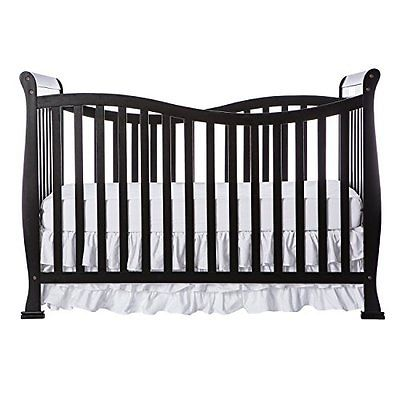 Violet 7 in 1 Convertible Life Style Cribs coverts into a toddler bed, Black