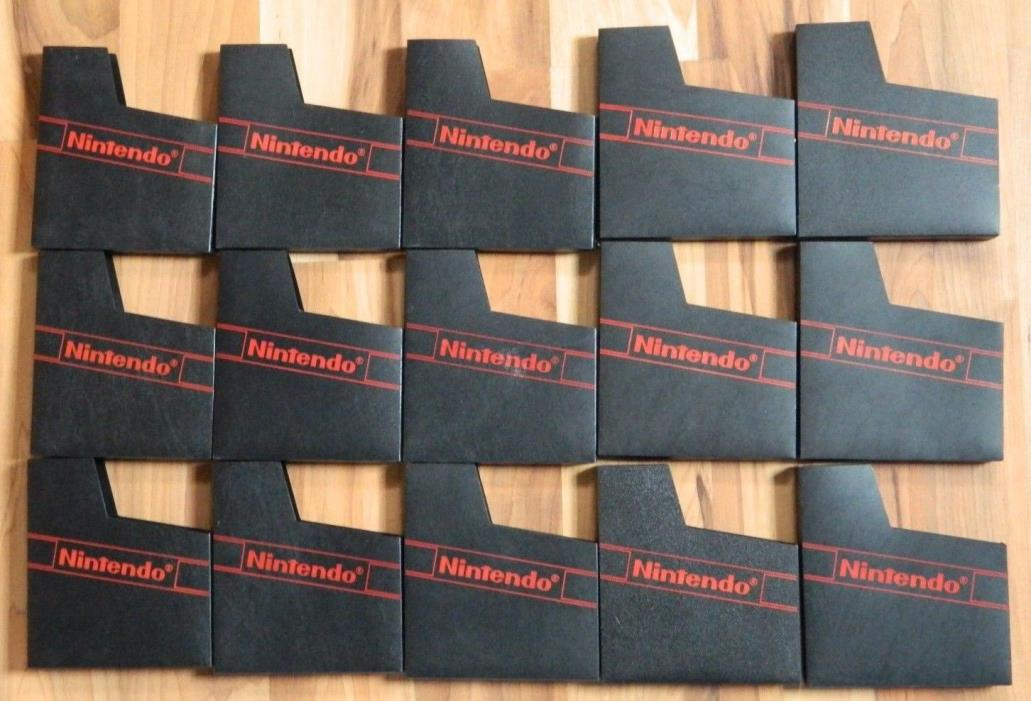 Lot Of 15 Official NES Nintendo Game Sleeves Original Vintage Logo Dust Covers