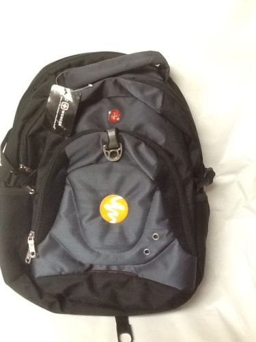 NEW BLACK BACKPACK SWISS ARMY WENGER