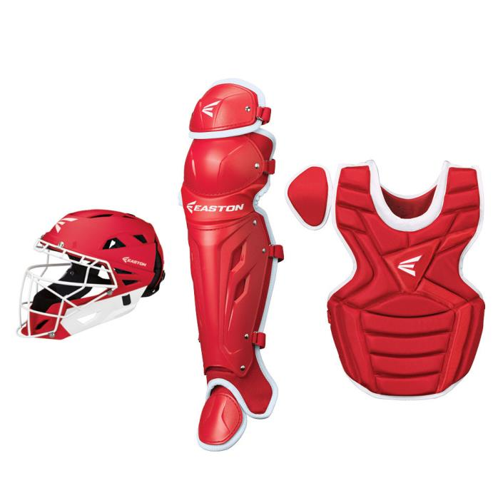 Easton M7 Fastpitch Catchers Gear Set Package - Intermediate Kit - Scarlet