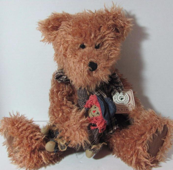 Boyds Bears Shaggy Bear RUSTY & SCAREDYCROW Rage Doll & Hang Tag 14