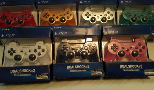 lot of sony ps3 wireless dualshock 3 controllers