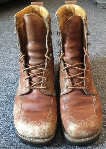 Vintage Leather Boots Mens Size 8.5/9
