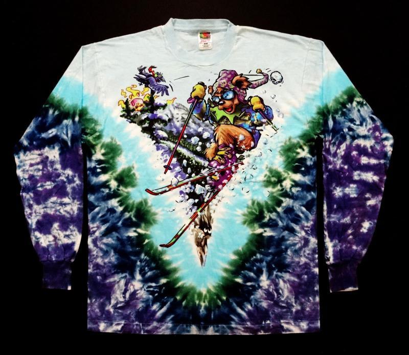 Grateful Dead Shirt T Shirt Vintage 1996 Ski Skiing GD Bear Tie Dye GDM XL New !