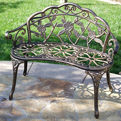 Belleze Rose Iron Garden Bench