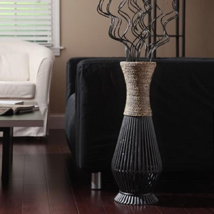 Tall Floor Vases Bamboo Home Furniture And Decor Seagrass Home Interior Display
