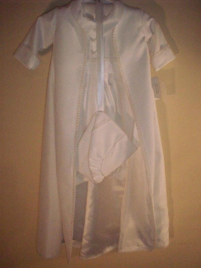 New Baby Boy Toddler Christening Baptism Gown Outfit Sz 0-6 m Coutour by Fatima