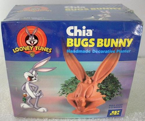 Bugs Bunny Chia Head Pet Pottery Decorative Planter Sealed And New In Box